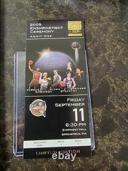 1 09/10 UD Michael Jordan Legacy Factory Sealed Box HOF Program Ticket Pin Set