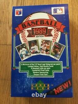 1989 Upper Deck Wax Box Low Numbers From A Sealed Factory Case Ken Griffey Jr