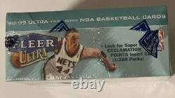 1998-99 Fleer Ultra Single Series Basketball Factory Sealed Retail Box 20 Pack