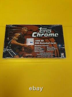 1998-99 Topps Chrome Basketball Factory Sealed Hobby Box Dirk Kobe Jordan Duncan