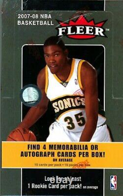 2007 Fleer Basketball Factory Sealed Box, Kevin Durant ROOKIE Year PSA 10