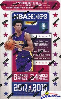 2017/18 Panini Hoops Basketball Factory Sealed HOBBY Box-2 AUTOGRAPH+24 Inserts
