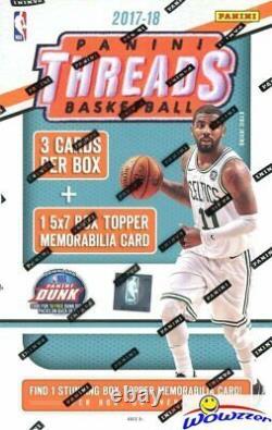 2017/18 Panini Threads Basketball Factory Sealed Box-5x7 JUMBO MEMORABILIA Card