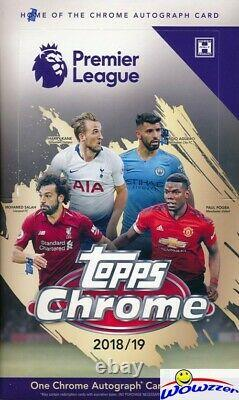 2018/2019 Topps CHROME Premier League Soccer Factory Sealed HOBBY Box-AUTOGRAPH
