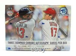 2018 Bowman Chrome HTA Choice Baseball Factory Sealed Hobby Box