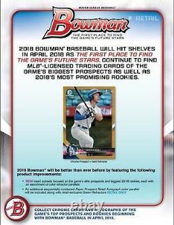 2018 Topps BOWMAN Baseball Retail 24 Pack Box Otani Soto Acuna Ozzie Rookie card