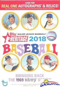 2018 Topps Heritage Baseball EXCLUSIVE HANGER Case with 8 Factory Sealed Boxes