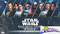 2018 Topps Star Wars Galactic Files Factory Sealed HOBBY Box-2 HITS withAUTOGRAPH