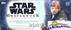 2018 Topps Star Wars Masterwork Factory Sealed HOBBY Box-4 HITS-2 AUTOS