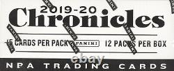 2019-20 Panini Chronicles Basketball Factory Sealed 12 Pack Fat Pack Box