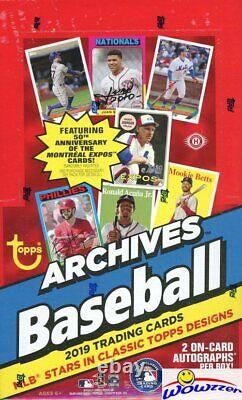 2019 Topps Archives Baseball MASSIVE Factory Sealed 24 Pack HOBBY Box-2 AUTOS