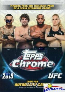 2019 Topps UFC Chrome EXCLUSIVE Factory Sealed Blaster Box-SEPIA REFRACTOR PACK