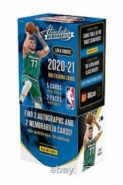 2020-21 Panini Absolute Memorabilia Basketball Factory Sealed Hobby Box