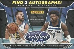 2020-21 Panini Certified Basketball Factory Sealed Hobby Box