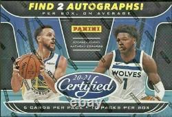 2020/21 Panini Certified Basketball Hobby Factory Sealed Box