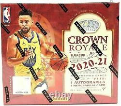 2020/21 Panini Crown Royale Basketball Factory Sealed Hobby Box
