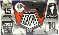 2020-21 Panini Mosaic Uefa Euro Soccer Factory Sealed Hobby Box Qty