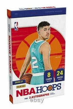 2020/21 Panini NBA Hoops Basketball Factory Sealed Hobby Box
