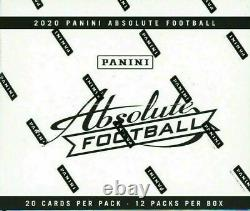 2020 Absolute Football Fat Pack Cello Box (Factory Sealed) Kabooms Herbert RC