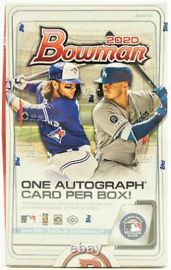 2020 Bowman Baseball Factory Sealed Hobby Box 24 Packs 1 Auto
