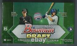 2020 Bowman Draft Baseball Factory Sealed Hobby Jumbo Box