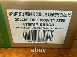 2020 Factory Sealed ABSOLUTE Football Dollar Tree Gravity Feed Box 48 Packs