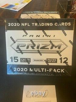 2020 Factory sealed PANINI PRIZM Football Cello Box Tua-Burrow-Herbert RCs