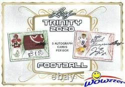2020 Leaf Trinity Football Factory Sealed HOBBY Box-5 AUTOGRAPHS