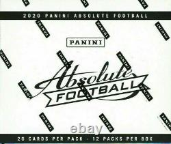 2020 Panini Absolute Football Factory Sealed Fat Pack Cello Box