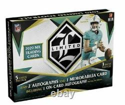 2020 Panini Limited NFL Football Factory Sealed Hobby Box