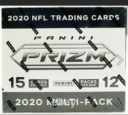 2020 Panini Prizm Football Factory Sealed Multipack Box 12 Cello Fat Packs