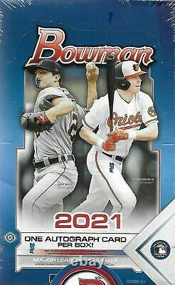 2021 Bowman Baseball Factory Sealed Hobby Box New