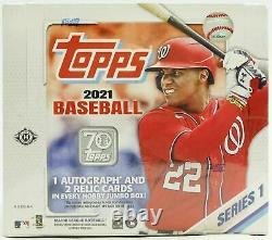 2021 Topps Series 1 Baseball Factory Sealed Jumbo Box