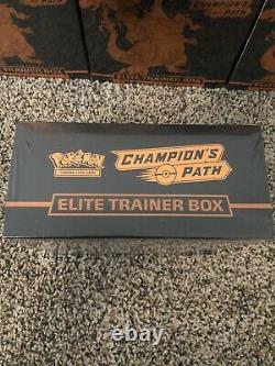 Factory Sealed Pokemon Champions Path Elite Trainer Box ETB TCG 10 Box Lot