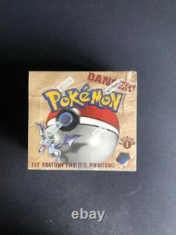 Pokemon 1st Edition Fossil Booster Box WOTC 1999 Factory Sealed