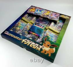 Pokemon Card Game Sward &Shield Eevee Heroes Vmax Special 6 Sets Factory Sealed