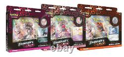 Pokemon Champion's Path Pin Collections Display Factory Sealed 6 Boxes Wave 2