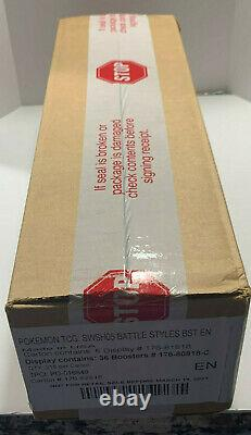 Pokemon Sword & Shield BATTLE STYLES 6 BOX BOOSTER CASE Factory Sealed IN HAND