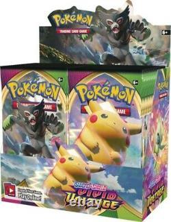Pokemon Sword & Shield Vivid Voltage Booster Box Factory Sealed 36 Packs