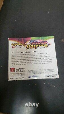 Pokémon Sword and Shield Vivid Voltage Booster box 36 pack box factory sealed