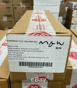 Pokemon TCG SM3 Burning Shadows English Booster Box Factory Sealed Case 6 Boxes