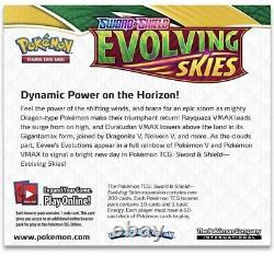 Pokemon TCG Sword & Shield Evolving Skies Booster Box Factory Sealed SWSH07