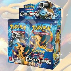 Pokemon TCG XY EVOLUTIONS Booster Box FACTORY SEALED 36 Packs (no box)