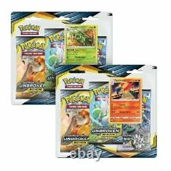 Pokemon Unbroken Bonds Factory Sealed Blister Case 24 x3 Pack = 2 Booster Box