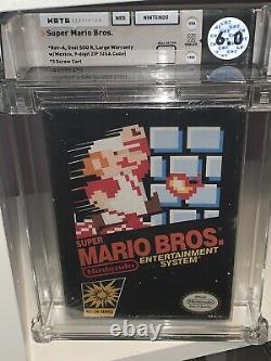 Super Mario Bros WATA 6.0 B Nintendo Factory Sealed NES Holy Grail Black Box